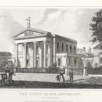 Beverley Court House East Riding Yorkshire antique print 1845 D