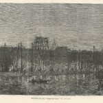 Working on the Great Eastern (2) by gaslight. Oct. 1857 antique print (1280x840)