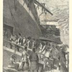 Canadian Contingent soldiers embarking on Great Eastern leaving the Mersey