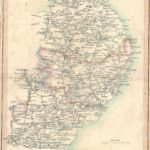 Essex Hertfordshire Suffolk Norfolk antique road map 1815