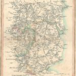 Market deeping road to Leeds and York antique map published 1815