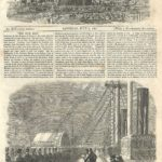 Calling the roll on board the Great Eastern Shortly before her departure from the Mersey with troops for Canada 1861 original antique front page from Illustrated London News