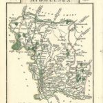 Middlesex antique map by Georgian cartographer John Cary 1812