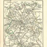 Shropshire Salop antique map by Georgian cartographer John Cary published 1812