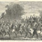 The Civil War in America, The Confederate Army - Mississipians passing in review before General Beauregard and staff 1861