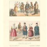 Racinet French fishermen of Dieppe antique print