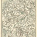 Cumbria antique map Cary's Map of England and wales Published 1794 - Plate 58