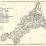 Cassells County Atlas - Cornwall antique map