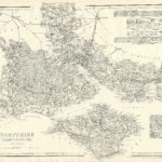 Cassells County Atlas - Hampshire (South Division) including Isle of Wight antique print