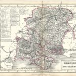 Hampshire Hants Southampton antique print Sidney Hall's Travelling Atlas With All The Railroads 1860 - Page 15