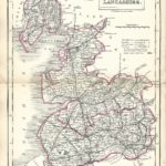 Lancashire Lancs antique map Sidney Hall's Travelling Atlas With All The Railroads 1860 - Page 21