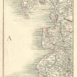 Lancashire antique map Cary's Map of England and wales Published 1794 - Plate 47