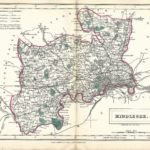Middlesex antique map Sidney Hall's Travelling Atlas With All The Railroads 1860 - Page 24