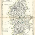 Staffordshire Staffs antique map Sidney Hall's Travelling Atlas With All The Railroads 1860 - Page 34