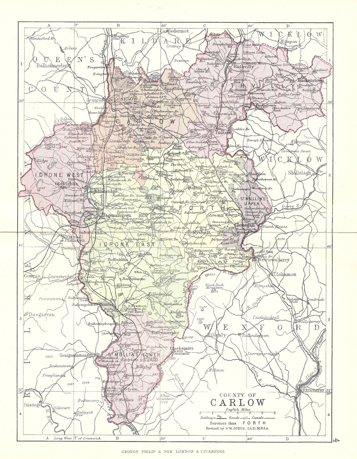 Antique Map Of Carlow Frontispiece