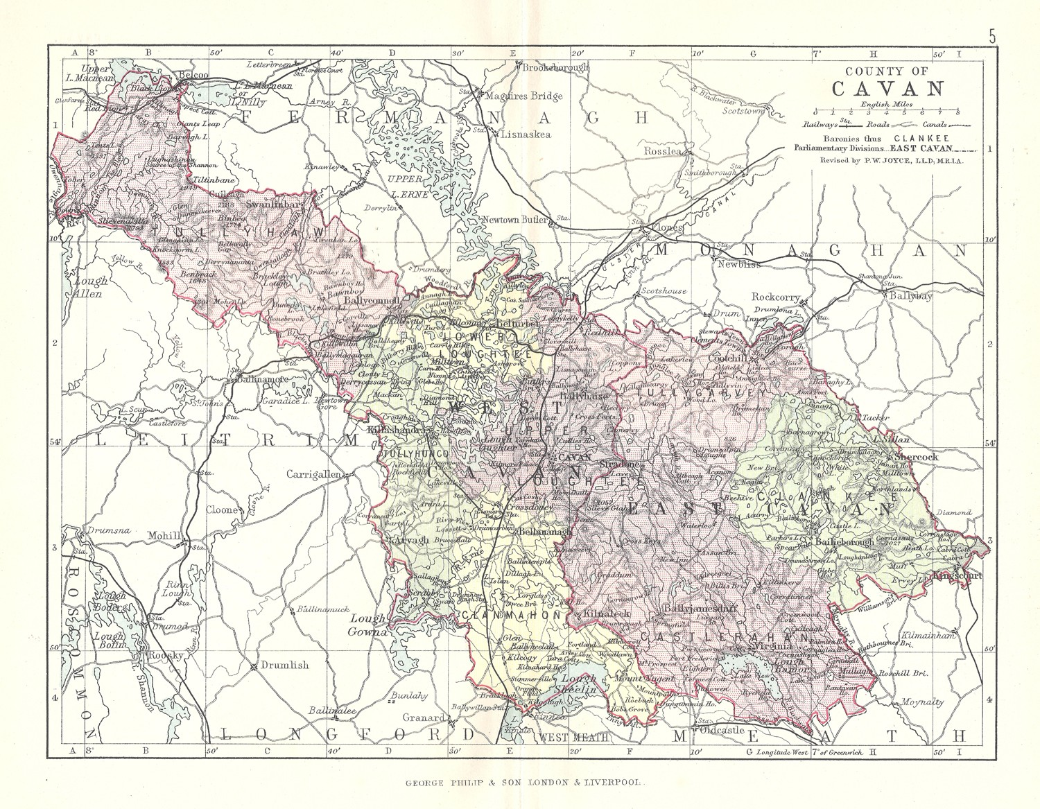 Map Of Ireland Cavan.Antique Map Of Cavan