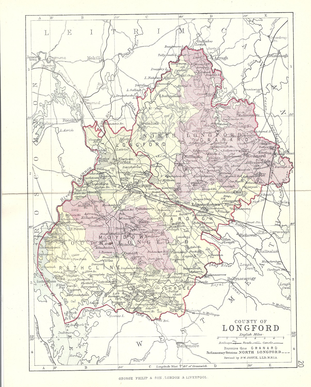 Map Of Ireland Longford.Antique Map Of Longford