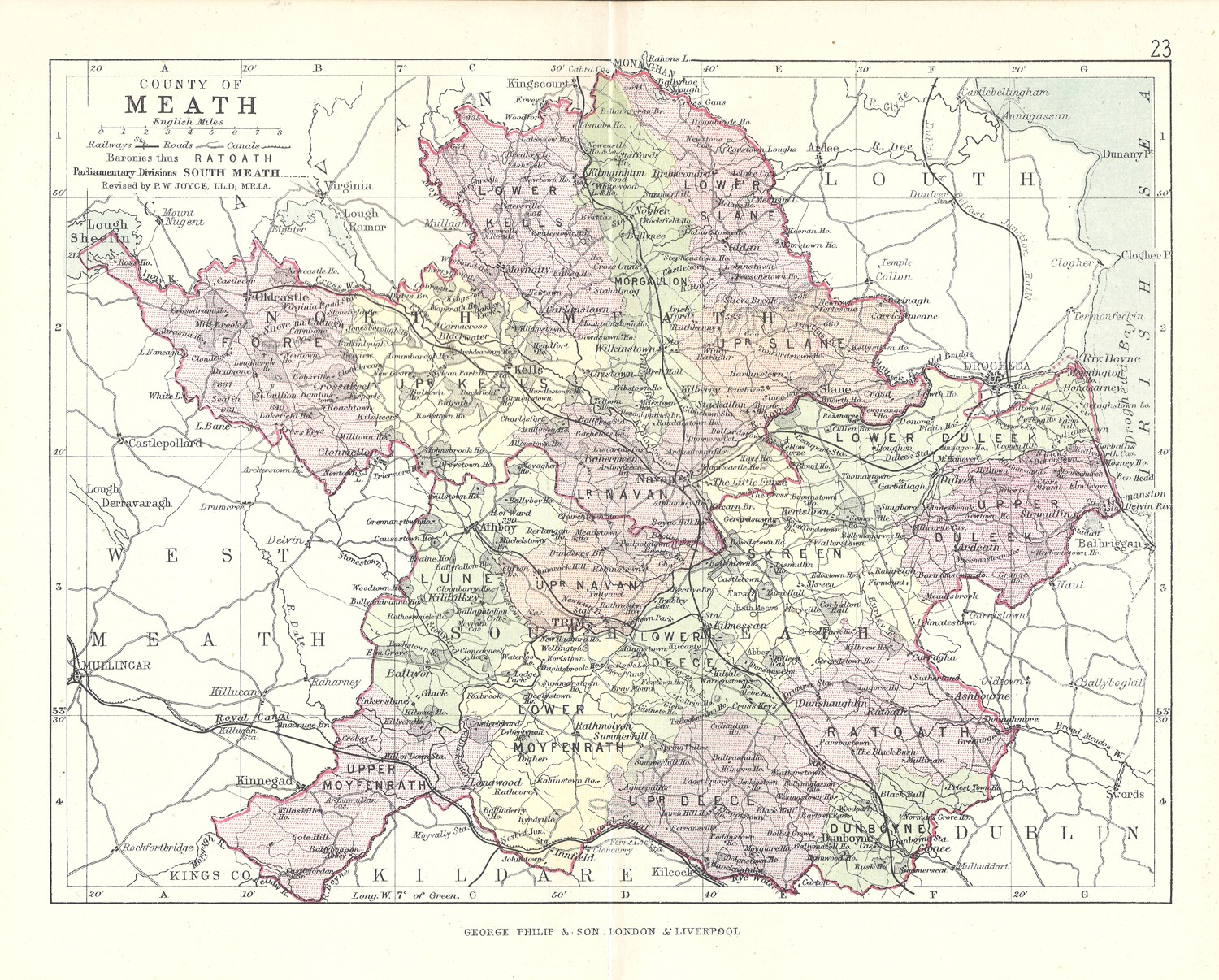 Antique Map Of Meath Frontispiece