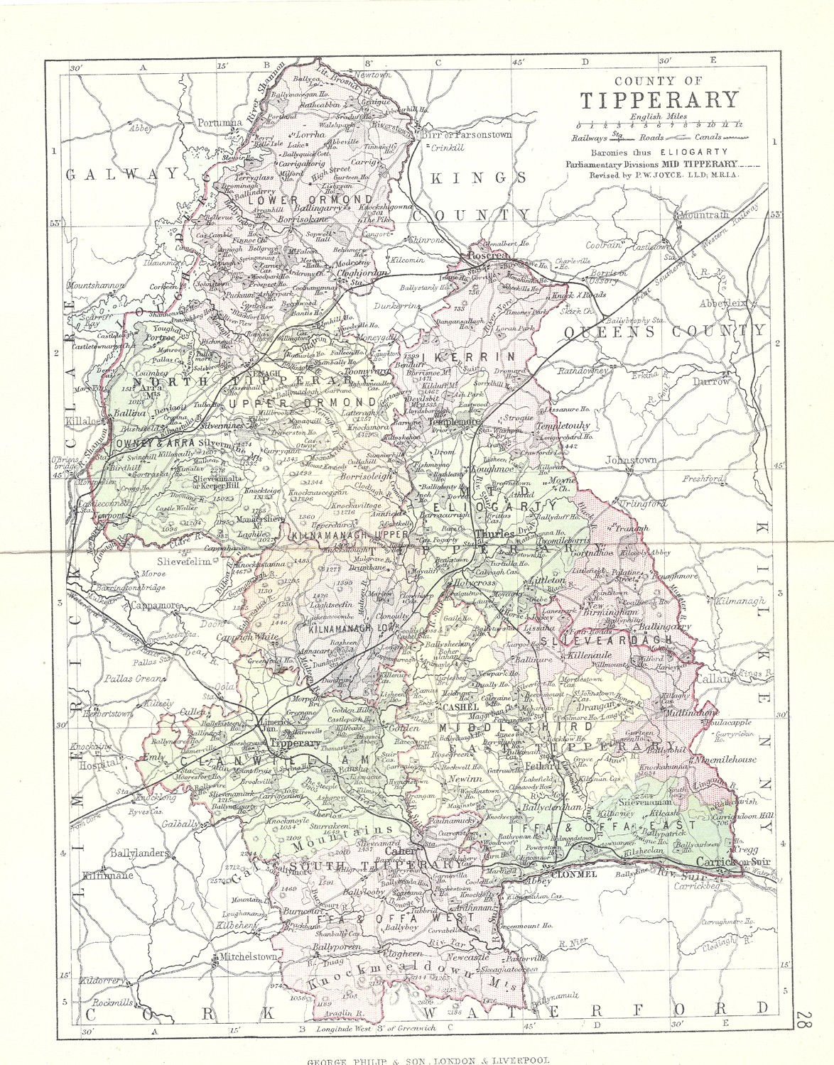 Antique Map Of Tipperary Frontispiece