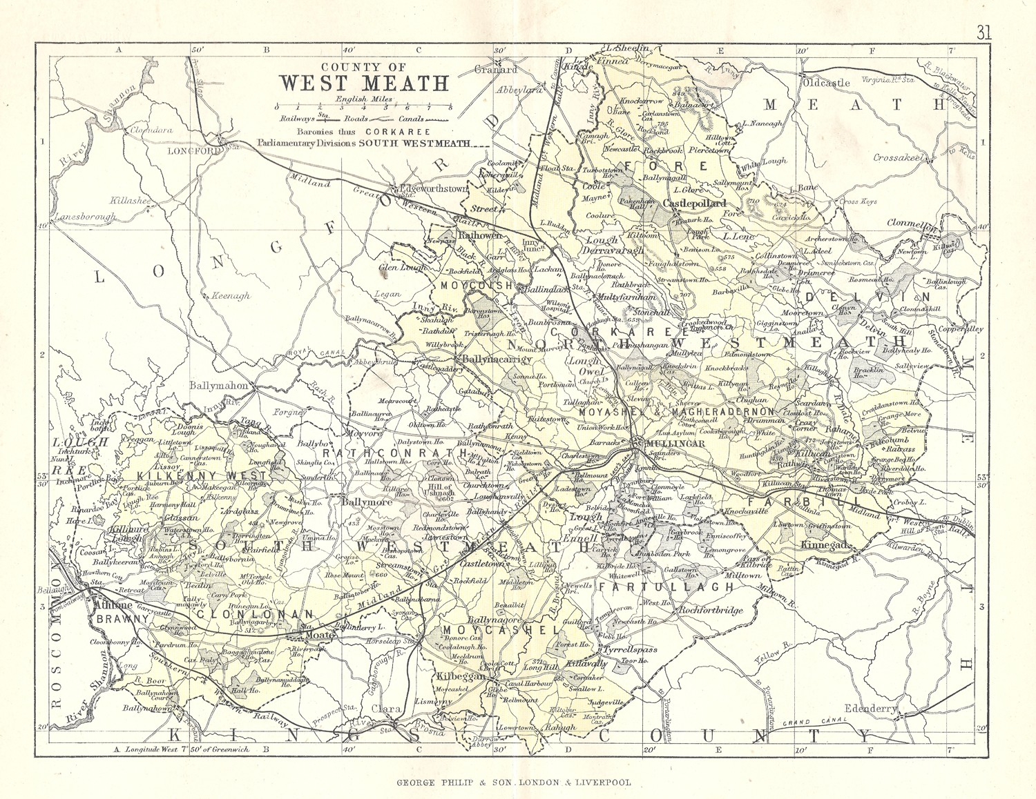 Antique Map Of West Meath Frontispiece