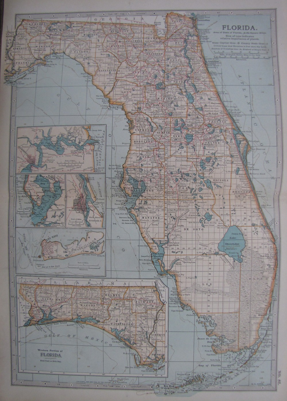 Antique Map Of Florida.Antique Map Of Florida No 81 Frontispiece