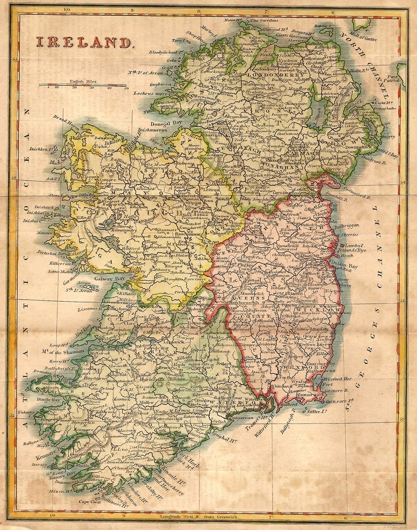 Map Of West Of Ireland.Antique Map Of Ireland 2