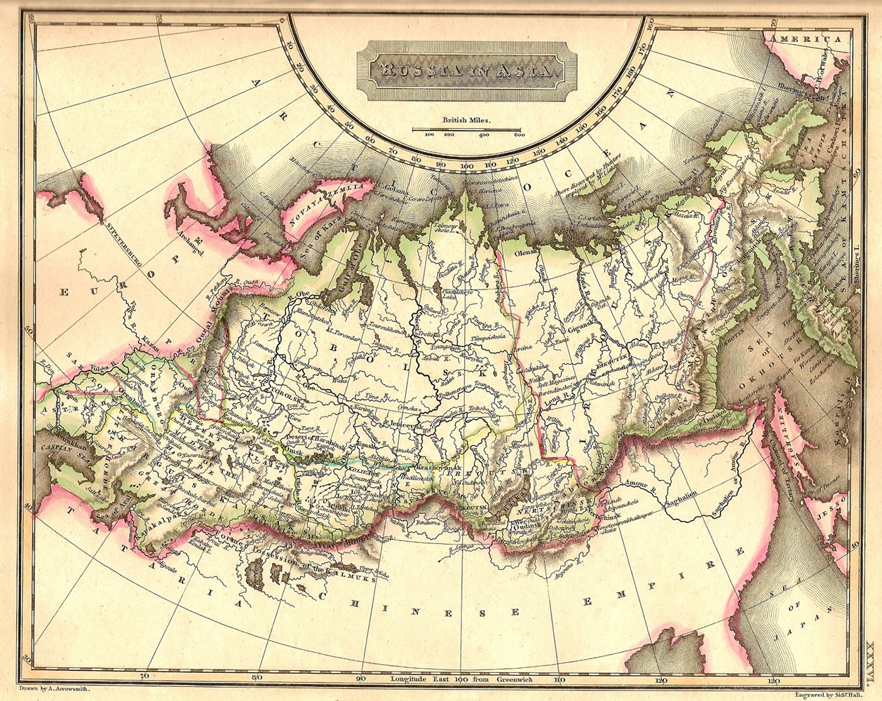 Russia In Asia Antique Map Frontispiece