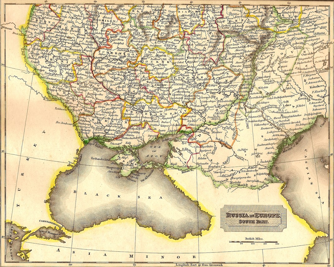 Russia Europe Antique Map Frontispiece