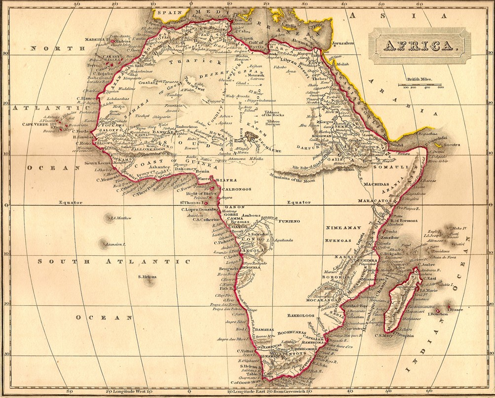 Africa Antique Map Frontispiece