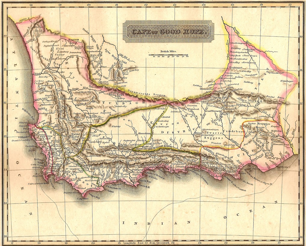 South Africa Cape Of Good Hope Antique Map Frontispiece