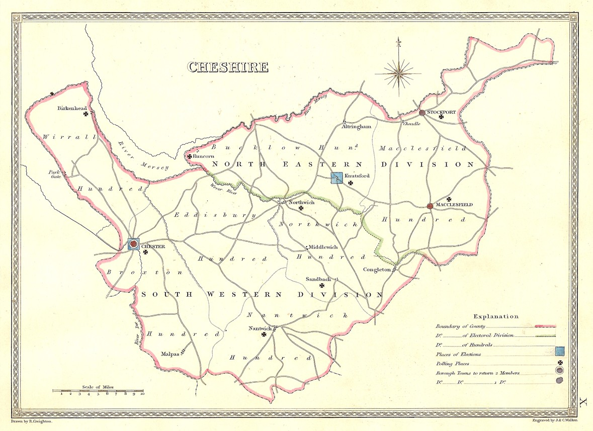 Cheshire Antique Map Frontispiece