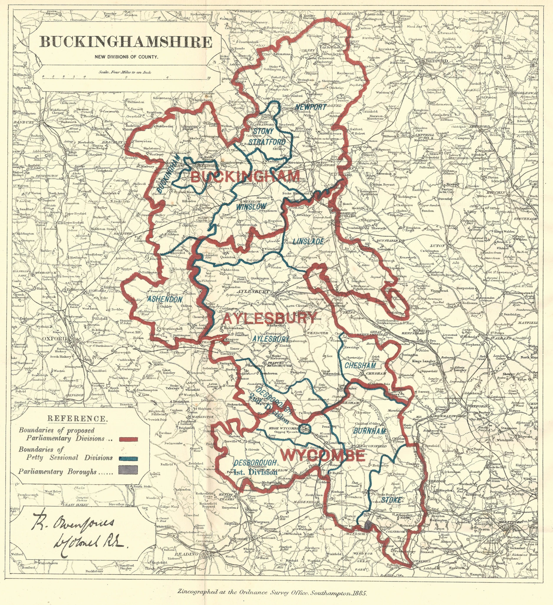 Map Of Buckinghamshire Buckinghamshire antique map   Frontispiece
