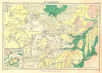 St Lawrence River World Map.St Lawrence River Antique Map Frontispiece