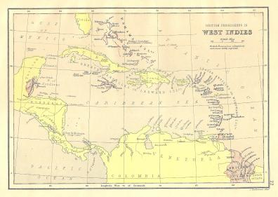 West Indies antique map of British Possessions - Frontispiece