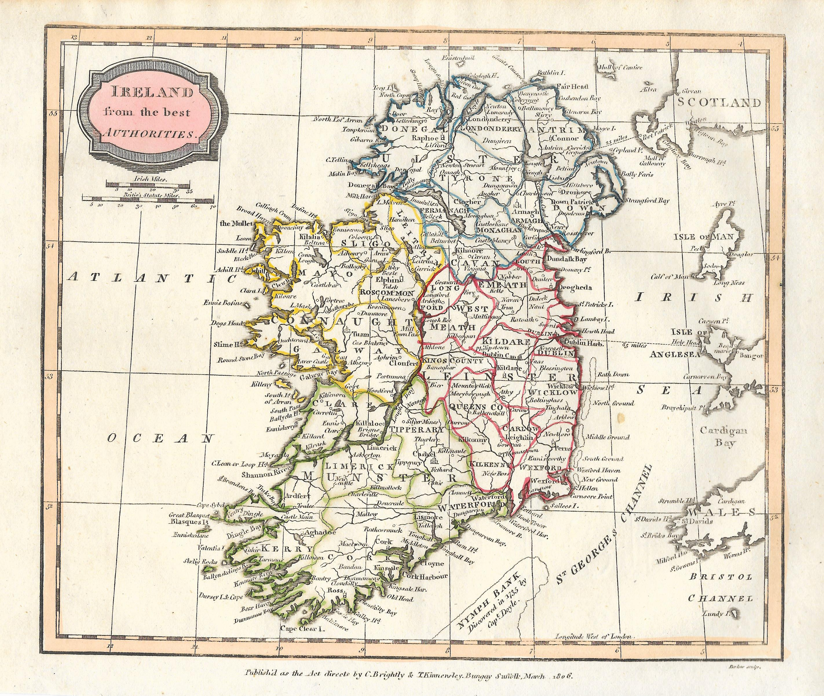Map Of Ireland 32.Ireland Antique Map