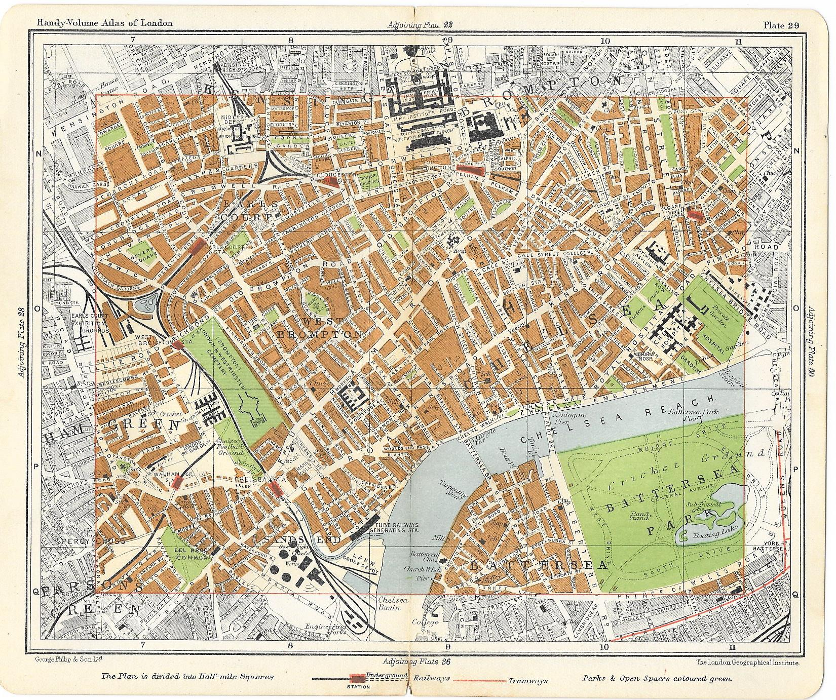 Chelsea antique map 1910 - Frontispiece on