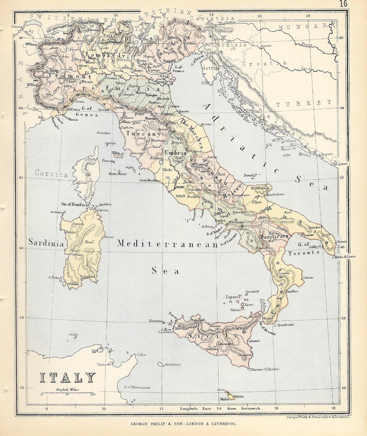 Italy antique map - Frontispiece