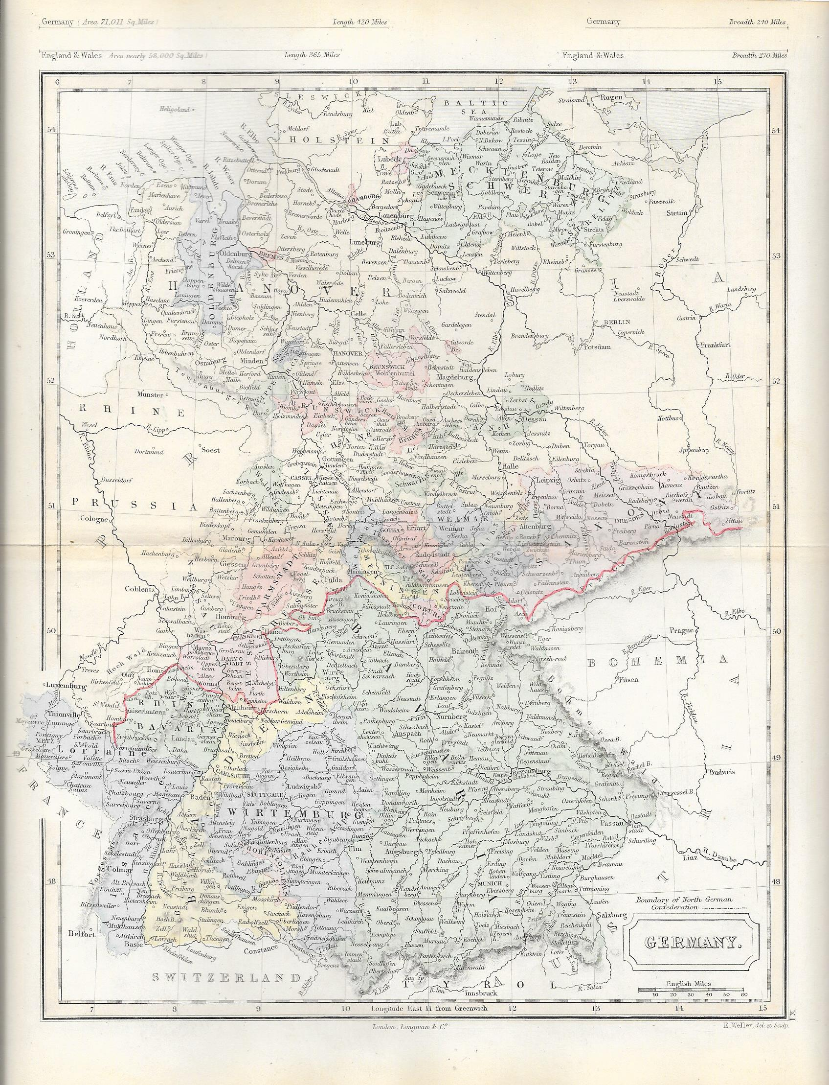 Germany Antique Map Frontispiece