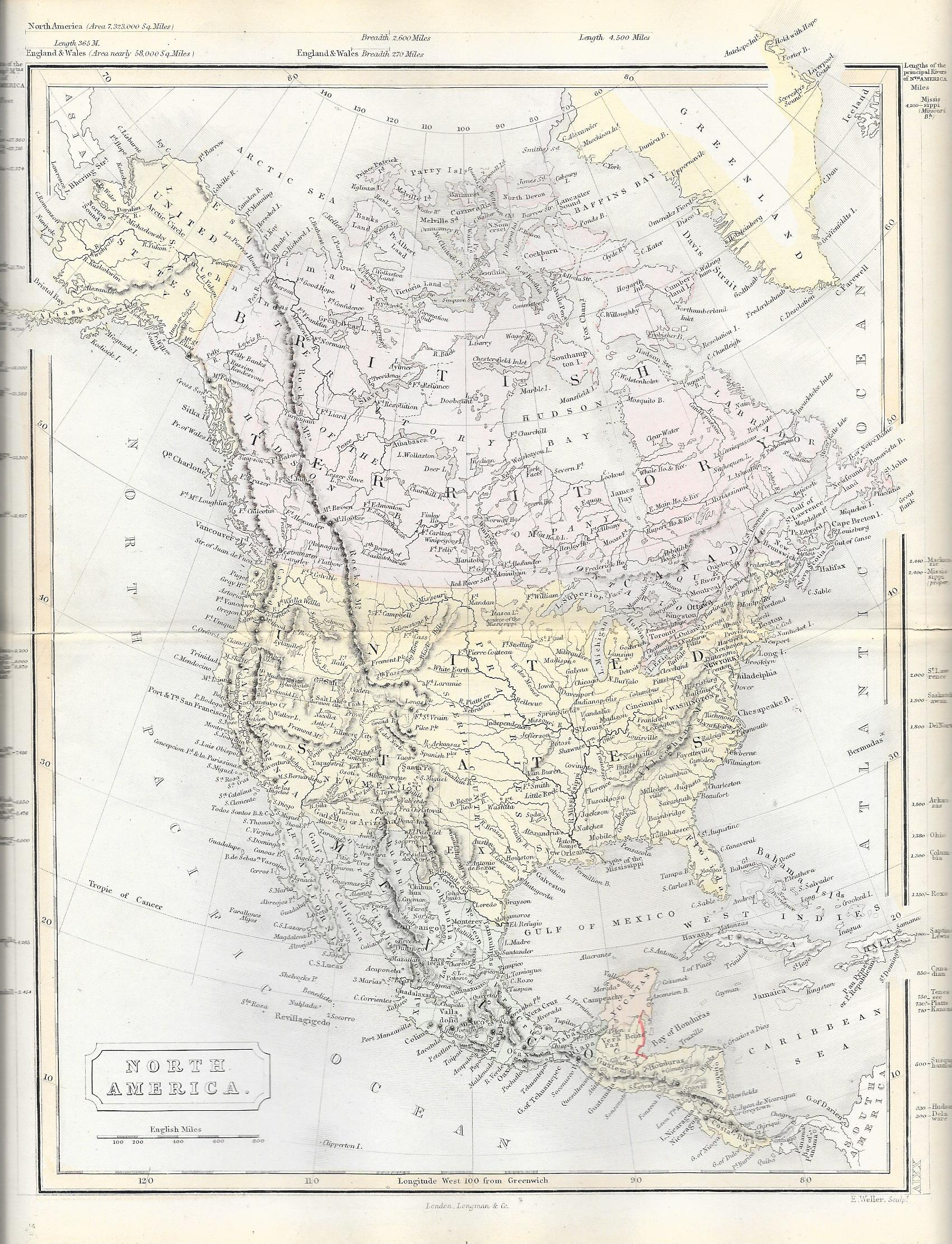 Antique Map Of North America.North America Antique Map Frontispiece