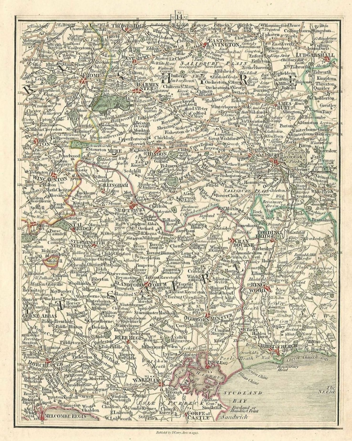 map of wiltshire and hampshire Wiltshire Dorset Hampshire Somerset Antique Map Published1794 map of wiltshire and hampshire