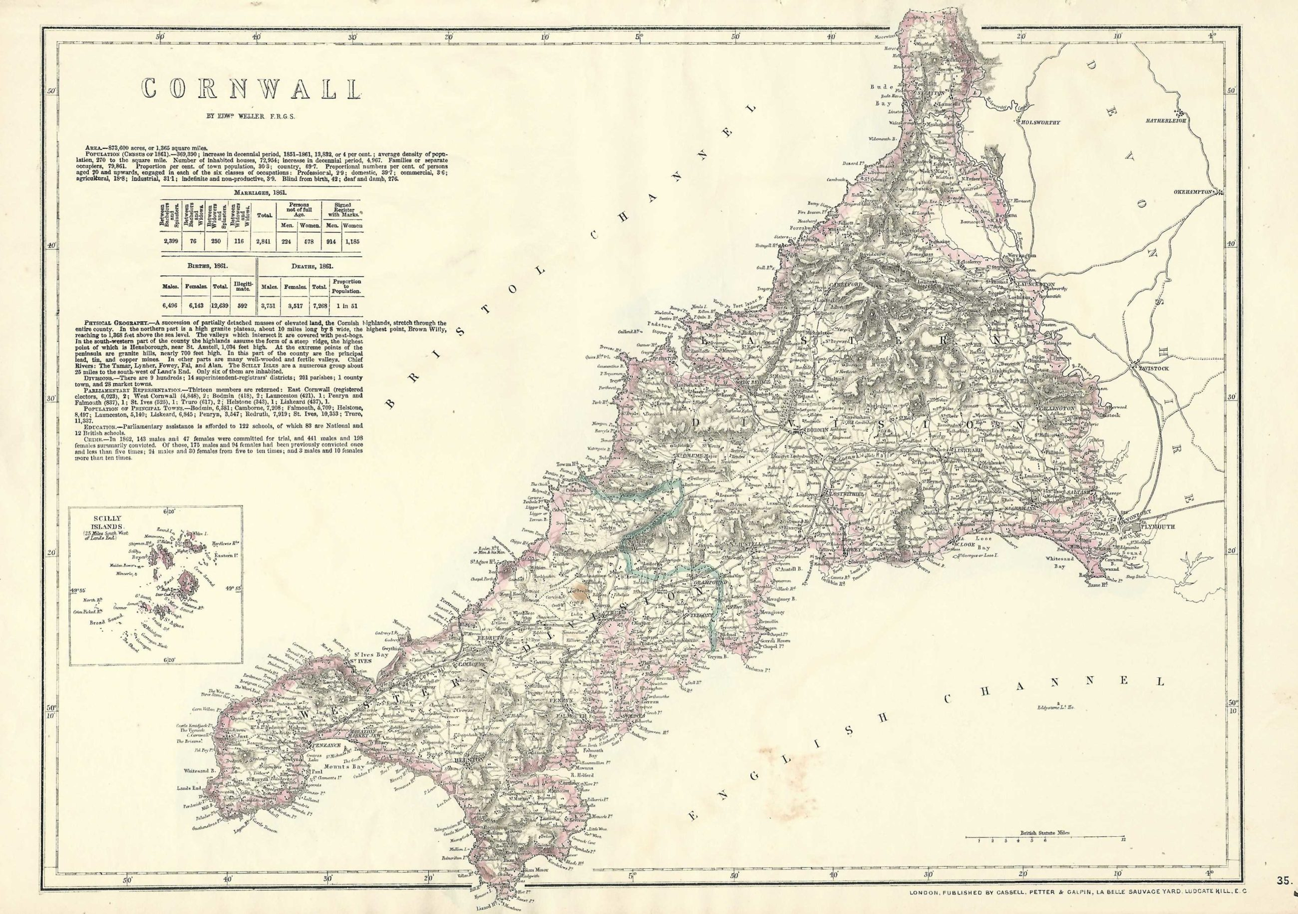 Cornwall Map on