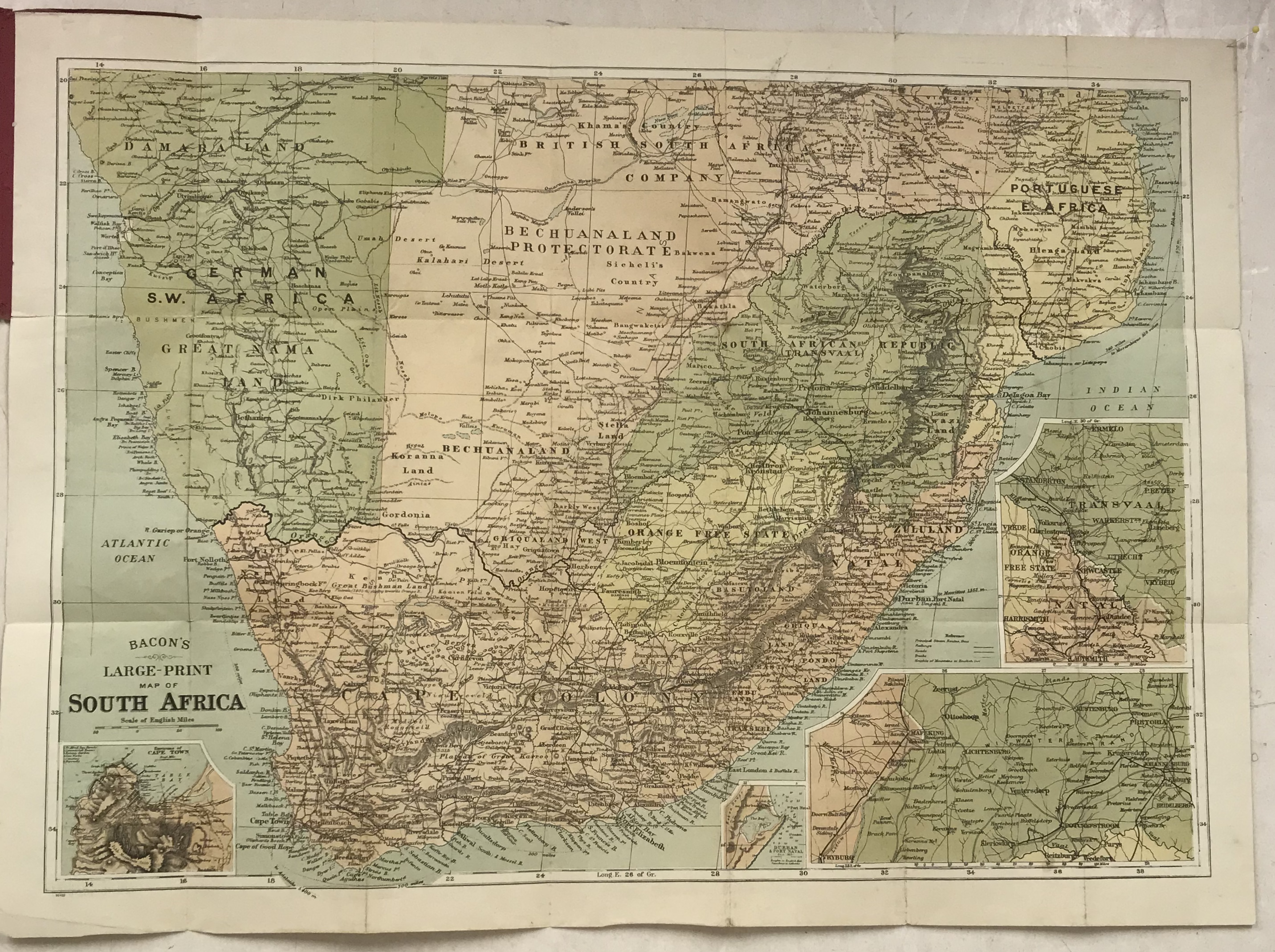 South Africa Transvaal And Cape Colony Antique Map 1899 Frontispiece